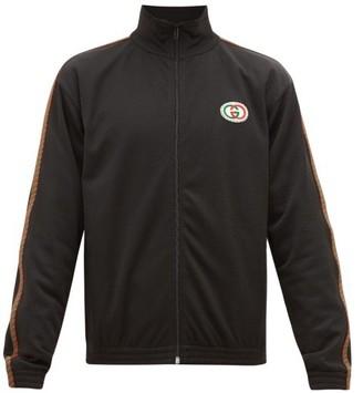 Gucci Logo-patch Mesh Track Jacket - Mens - Black