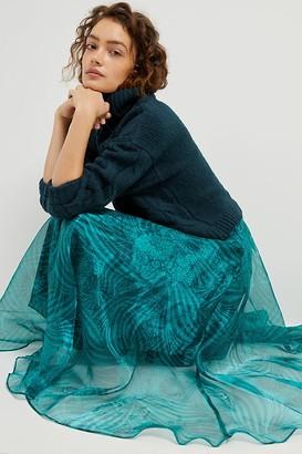Maeve Winnie Organza Maxi Skirt