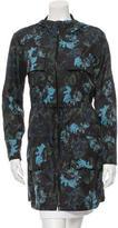 Vera Wang Printed Windbreaker Jacket
