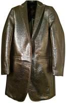 MSGM Metallic Wool Coats
