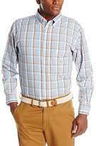 Haggar Men's Long Sleeve Peached Poplin Woven Shirt