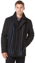 Perry Ellis Tall Wool Melton Scarf Coat