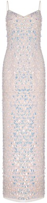 Adrianna Papell Beaded Slim Column Gown
