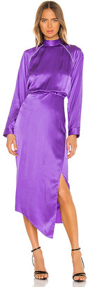Mason by Michelle Mason Raglan Dress With Crystal