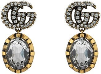 Gucci Double G earrings with crystals