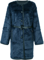 Urban Code Urbancode textured belted coat