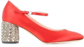 Rochas embellished heel pumps
