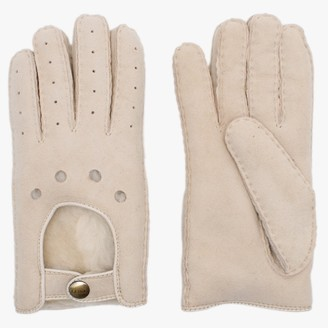 Australia Luxe Collective Moto Beige Twinface Sheepskin Gloves