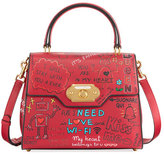 Dolce & Gabbana Welcome Graffiti Large Satchel Bag, Red