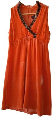 Romeo Gigli Orange Silk Dress for Women Vintage