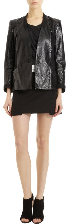 Helmut Lang Suiting Mini Skirt