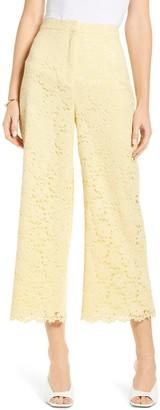 Rachel Parcell Lace Crop Wide Leg Trousers