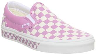 Vans Classic Slip On Trainers Rosebloom White Checkerboard Exclusive