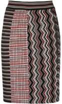 Missoni zig zag knitted skirt