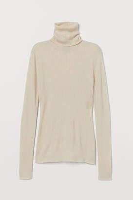 H&M Cashmere-mix polo-neck jumper