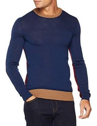 Trussardi Jeans Men's Round Neck with Pocket Jumper, (Blue U280), XX-Large