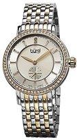 Burgi Women's BUR099TTG Swiss Quartz Diamond Dial Silver-tone & Gold-tone Stainless Steel Bracelet Watch