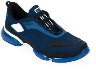 Prada Men's Cloudbust Knit Sport Sneakers