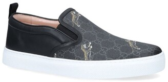 Gucci Leather Dublin Tiger Slip-On Sneakers