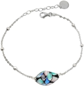 Antica Murrina Veneziana Smeralda Glass Beads Sterling Silver Bracelet