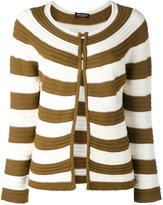 Twin-Set striped open front cardigan - women - Cotton - S