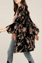 POL Velvet Floral Kimono