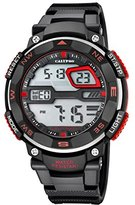 Calypso Men's Digital Watch with LCD Dial Digital Display and Black Plastic Strap K5672/6