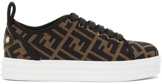 Fendi Brown and Black Forever Flatform Sneakers