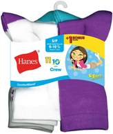 Hanes Girls` EZ-Sort ComfortBlend 11-Pack Crew Socks, G41/11, S