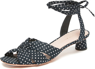 Loeffler Randall Leia 30mm Polka-Dot Ankle-Wrap Sandals