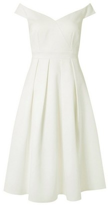 Dorothy Perkins Womens **Showcase White Bridal 'Tabitha' Skater Dress, White