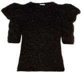 Saint Laurent Puff-shoulder fil coupé sweater