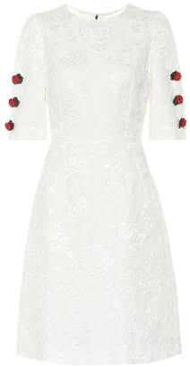 Dolce & Gabbana Embroidered cotton and silk dress