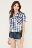 Forever 21 Tartan Plaid Pocket Shirt