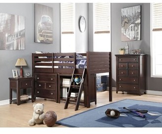 Harriet Bee Klaudia Twin Low Loft Bed with Bookcase and Drawers