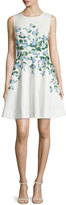 Erin Fetherston Suzie Floral-Print Fit-&-Flare Dress, Ivory/Multi