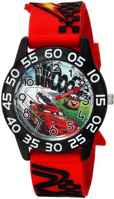 Disney Boys' Cars Analog-Quartz Watch with Plastic Strap red 16 (Model: WDS000024)