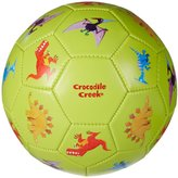 Crocodile Creek Dinosaurs Lime Green Kids Soccer Ball Size 3, 7 inches