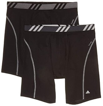 adidas Mesh Boxer Brief 2-Pack (Black/Onix Black/Grey) Men's Underwear