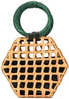 Aranaz wicker clutch bag