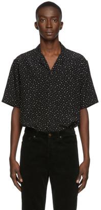 Saint Laurent Black V-Neck Short Sleeve Shirt