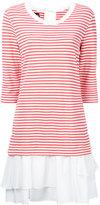 Moschino stripe layered dress - women - Rayon/Nylon/Spandex/Elastane - 42