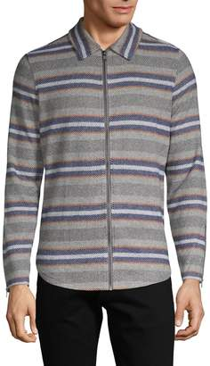 Threads 4 Thought Striped Full-Zip Shirt