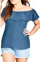 City Chic Cute Denim Top