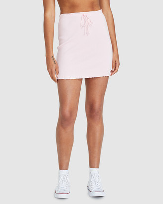 Don't Ask Amanda Brody Ribbed Stretch Skirt