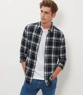 New Look Navy Check Long Sleeve Shirt