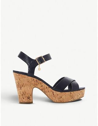 Dune Iylene faux-leather platform sandals