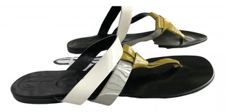Eres Grey Leather Sandals