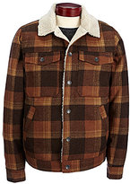 Billabong Barlow Plaid Wool Trucker Jacket