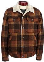 Billabong Barlow Plaid Wool Trucker Jacket